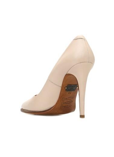 George Hogg 7003253 Kadın Deri Topuklu Ayakkabı Pudra